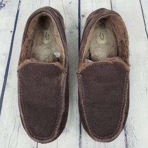 UGG | rubber sole plush driving/house slippers